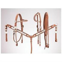Royal King Silver Laced Browband Headstall Horse Dark Oil