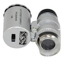 NYKKOLA New Silver 60X Loupe Portable Mini Pocket LED UV