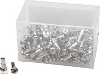 DT Swiss 2.0 x 12mm Silver Brass Nipples, Box of 100