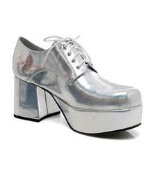 Men's Silver Pimp Adult Shoes - Silver - Medium