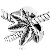 Pugster Jewelry Silver Plated Beach Palm Trees Charm Fits