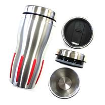 Silver/Red - Double Wall Stainless Steel Insulated Thermos