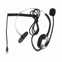 Silver 4-pin RJ9 Headset Call Center Desk Telephone Monaural