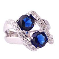 Women's 925 Sterling Silver 3.2cttw Sapphire Quartz Filled
