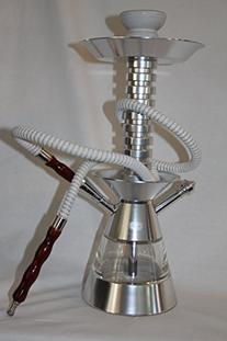 18 Inch Silver Single Hose Aluminum Hookah