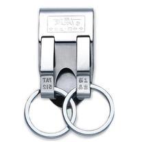 Silver Tone Stainless Steel Belt Hook Double Split Ring
