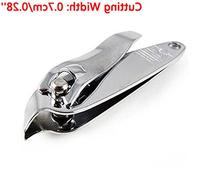 FOONEE Silver Tone Stainless Steel Finger Toenail Clippers