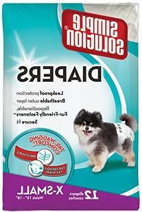 Simple Solution Disposable Dog Diaper, 12 count