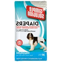 Simple Solution Disposable Medium Dog Diapers, 30 count