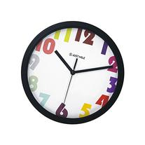 """JustNile Simplicity 10"""" Round Silent Wall Clock - Warm Color"""