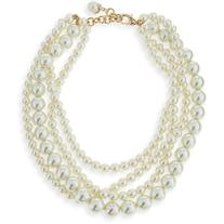 Lulu Frost Simulated Pearl Multi-Strand Necklace