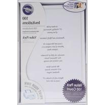 Wilton 100-Pack Single Border Invitation, White