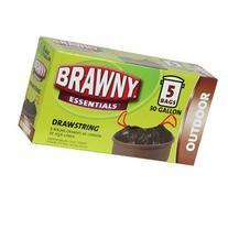 Single Brawny Essentials Drawstring Outdoor Trash Bags 5-ct