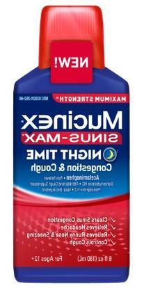 Mucinex Sinus Max Str Nig Size 6z Mucinex Sinus Max Max