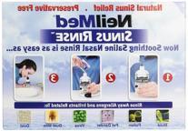 NeilMed Sinus Rinse - 2 squeeze Bottles 240mL  & Nasamist