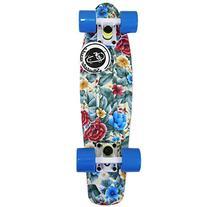 "Fish Skateboard Floral Plastic 22"" Retro Penny Shipping"