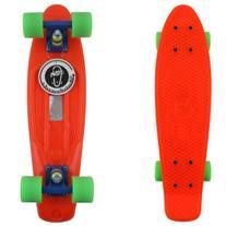 "Fish Skateboard Orange 22"" Urban Retro Cruiser Green Wheel"