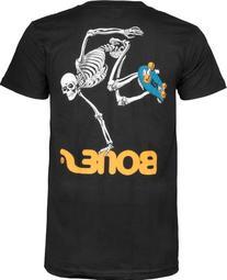 Powell-Peralta Skateboard Skeleton T-Shirt, Black, Medium