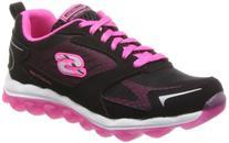 Skechers Kids Skech Air-Bizzy Bounce Sneaker,Black/Hot Pink,
