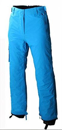 Men's Ski Snowboard Pants With Leg Gaiter, Black, Large