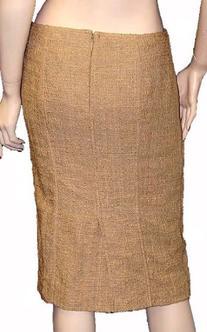 Roberto Cavalli Womens Skirt Beige Wool, 44, Beige