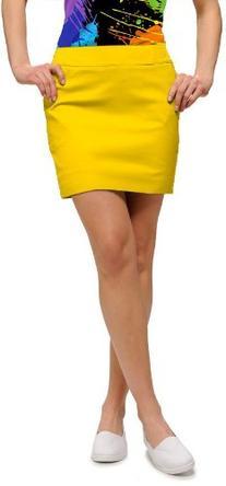 Loudmouth Golf Womens Skort: Element Lemon Chrome - Size 0