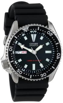 Seiko Men's SKX173 Stainless Steel and Black Polyurethane