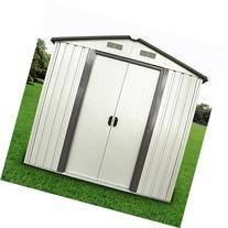 Silverylake AUSTL1011 6x4-Feet Steel Garden Storage Shed