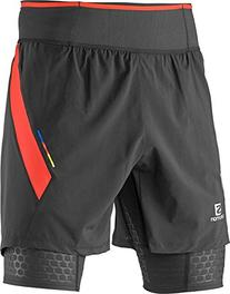 Salomon S-Lab Exo Twinskin Short - Men's Black / Racing Red