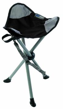 TravelChair Slacker Chair Folding Tripod Camp Stool, Black
