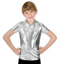 Boys Short Sleeve T-Shirt,N7086CSILL,Silver,Large