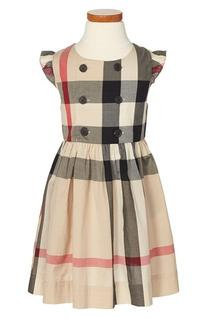 Girl's Burberry 'Pheobe' Sleeveless Check Dress