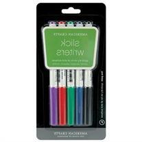 Slick Writer Marker 5-Pack-Fine Point-Black/Blue/Red/Green/