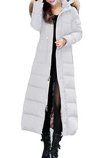 XIAOLV88 Women's Fashion Slim Duck Jacket Long Down Coat