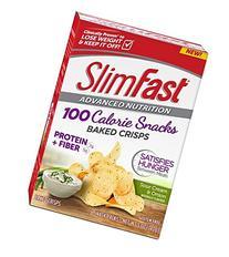 Slim Fast Advanced Potato Crisps Snacks, Sour Cream and