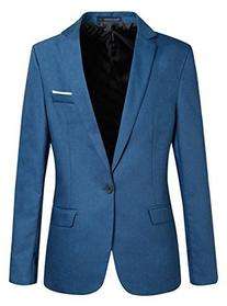 ZITY Men's Slim Fit Casual Premium Pure color Blazer Jacket