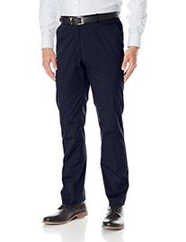 Perry Ellis Men's Slim Fit Cotton Flat Front Dress Pant,