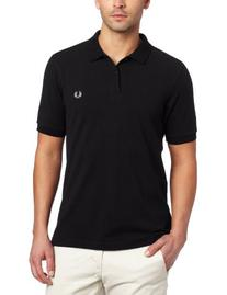 Fred Perry Men's Slim Fit Plain Shirt, Black, Medium