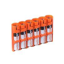Storacell by Powerpax SlimLine AAA Battery Caddy, Orange,
