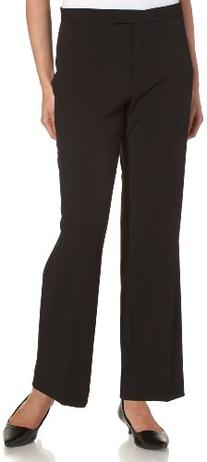 Sag Harbor Women's Petite Slimming Panel Pant, Black, 14P