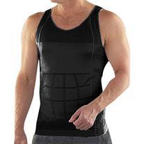 TopTie Men Slimming Body Shaper Tummy Waist Vest Shirt