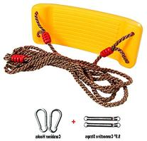 MochoHome Sling Swing with Adjustable Rope, Carabiner Hooks