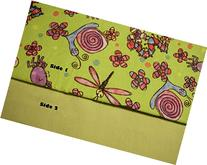 Pocket-2in1-Sheet Colorful Fun Bugs with Light Green Flannel