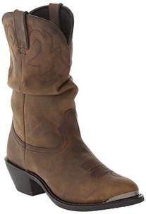 """Durango Women's RD542 Slouch 11"""" Western Boot,Distressed Tan"""