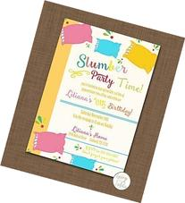 Slumber party invite set of 10 Sleepover birthday party