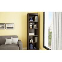 South Shore Narrow 5-Shelf Storage Bookcase, Pure White