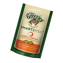 Greenies Smartbites Feline Hairball Chicken 10 oz