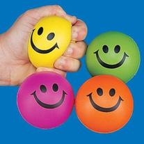 Smile Face Squeeze Ball, Colors May Vary