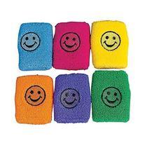 SMILE FACE WRIST BANDS  - BULK