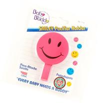 Baby Buddy Smiley Pacifier Holder Pink - Case of 24